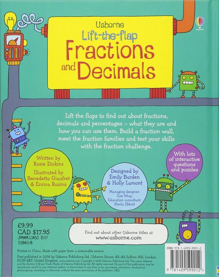 Lift the flap Fractions and Decimals