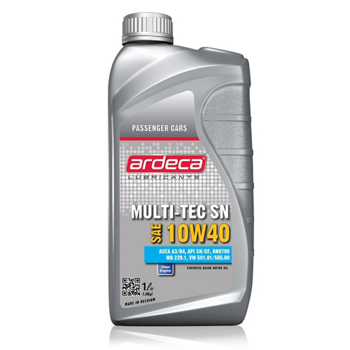 Nhớt Ardeca nhập khẩu từ Châu Âu MULTI-TEC SN 10W40 (1l) dùng cho xe số và xe tay ga + Tặng kèm giấy thơm hương tự nhiên