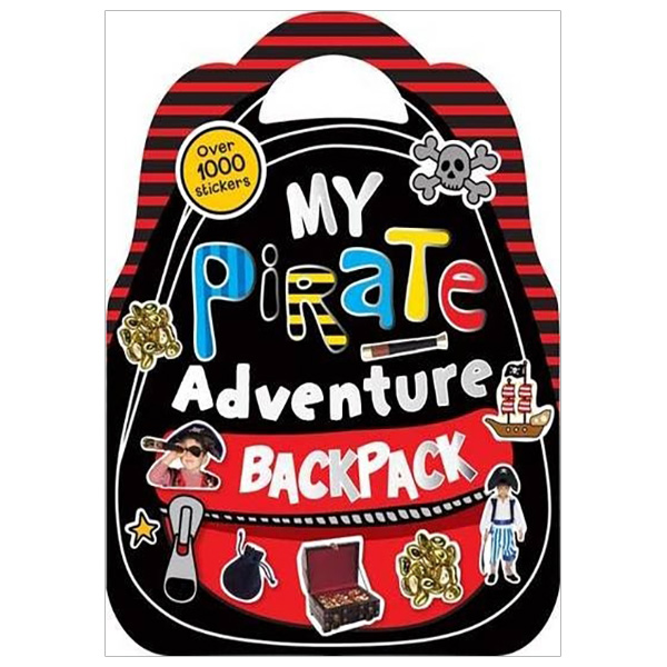 Shaped Sticker Books My Pirate Adventure Backpack