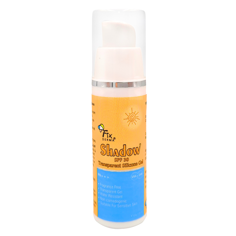 Gel Chống Nắng Trong Suốt, Không Hương Liệu, Phù Hợp Da Nhạy Cảm Fixderma Shadow SPF 30 Transparent Silicone Gel - 30g