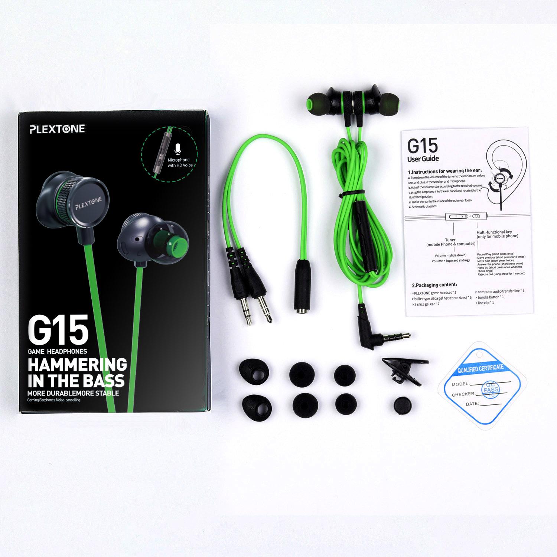 Tai nghe chơi Game chống ồn Plextone cho điện thoại, máy tính chuyên Game Pubg Mobile đàm thoại tốt + Tặng Kèm Móc Khóa 4Tech - Hàng Chính Hãng.