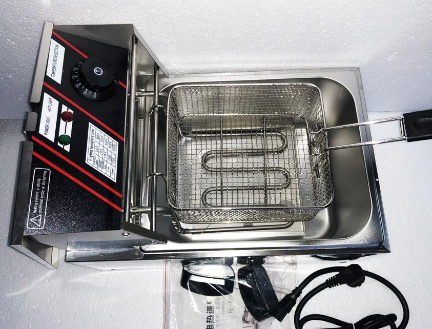 Bếp chiên nhúng chạy điện, chiên gà, khoai tây, cá viên chiên, ... chín đều, không lo bị cháy