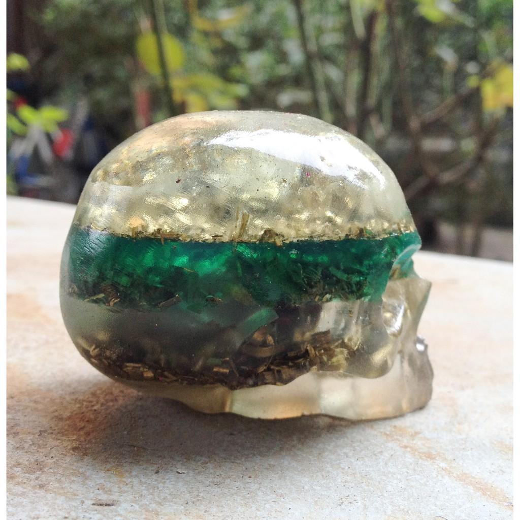 Hộp sọ orgonite (Crystal Skull) Mystery v.3 (Thiền kết nối)
