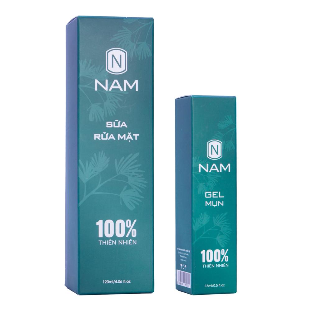 Combo Sạch Mụn NAM (Sữa Rửa Mặt 120ml - Gel Mụn 15ml)
