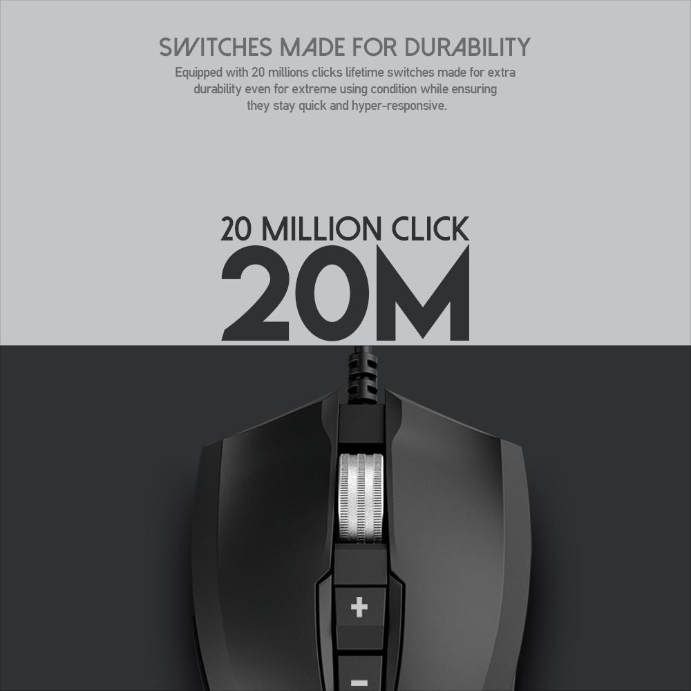 Chuột Gaming có dây Fantech X14s RANGERS 10000DPI LED RGB 16,8 triệu màu 7 phím macro, có phần mềm - Hàng chính hãng