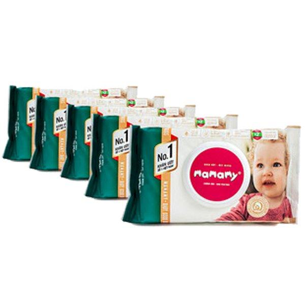 Combo 5 gói giấy ướt không mùi Mamamy mẫu mới nhất (Gói 100 tờ)