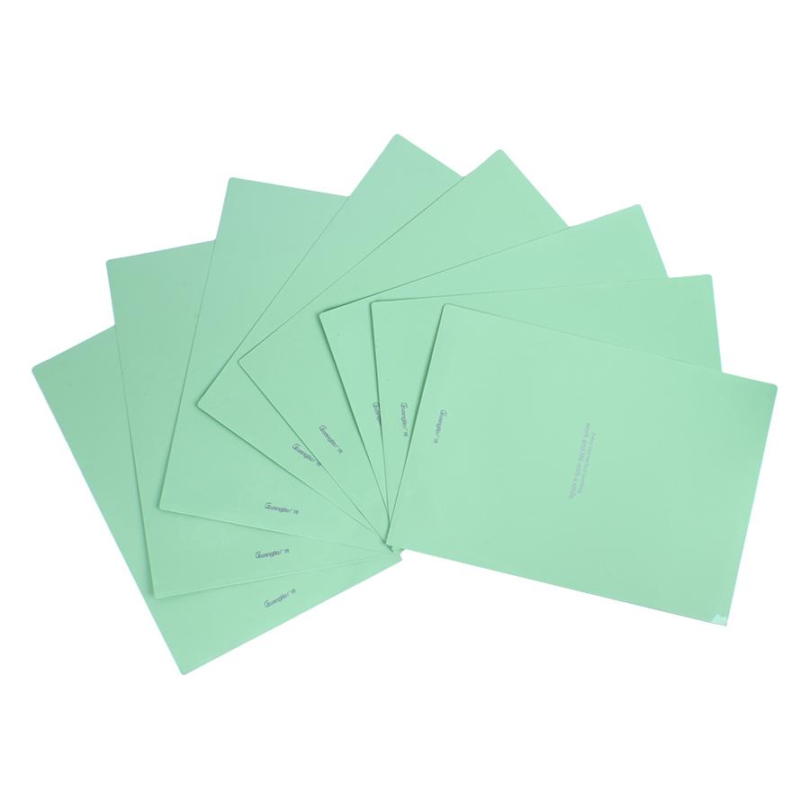 Bìa Lá Nhựa Đục Guangbo A4 9036 (8 Cái / Xấp) - Xanh Lá