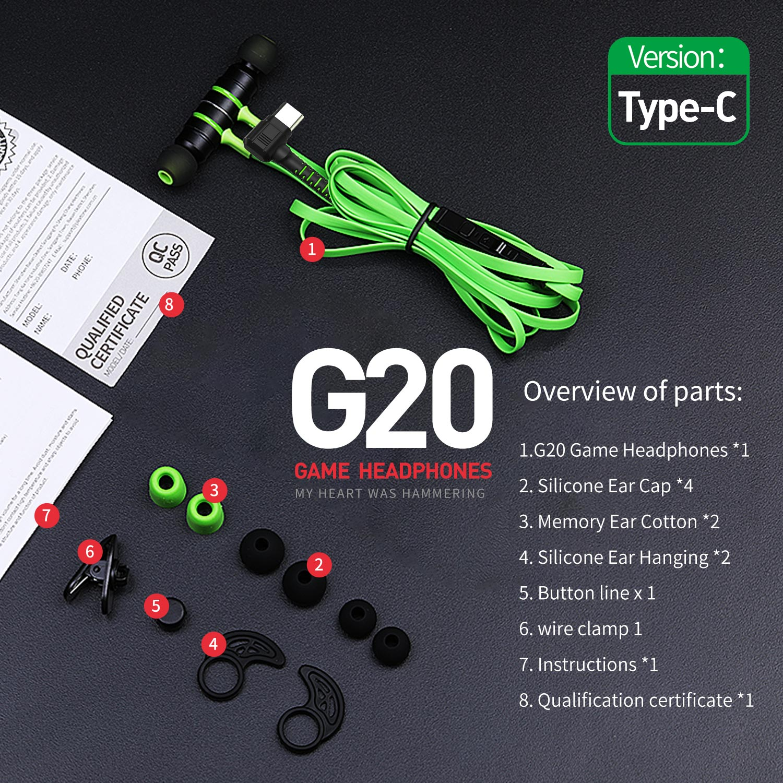 Tai nghe Plextone G20 Type C phiên bản 2019, tích hợp từ tính nam châm đặc biệt hữu ích trong trò chơi, trang bị thêm một loạt các phụ kiện, gửi cáp mở rộng, cáp adapter PC, sự kết hợp linh hoạt của tính linh hoạt - Hàng Chính Hãng.