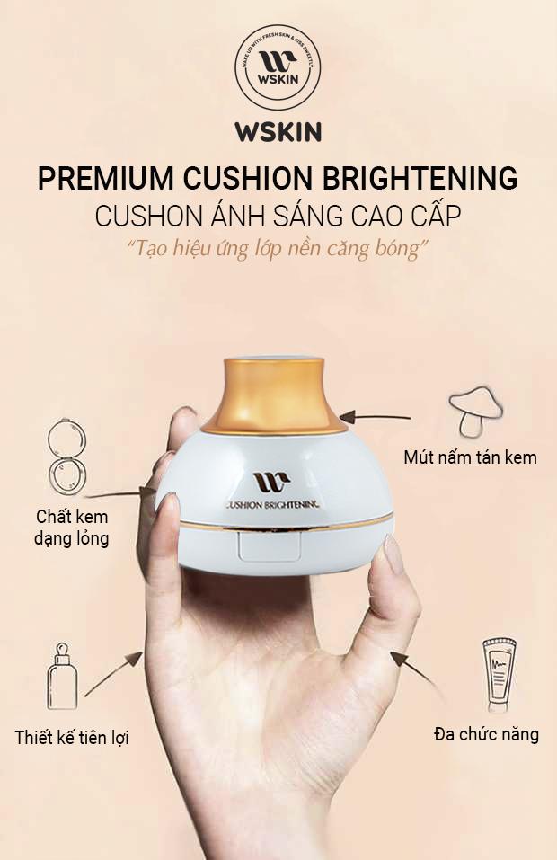Kem Nền Ánh Sáng WSKIN Premium Moist Cushion Foundation 5