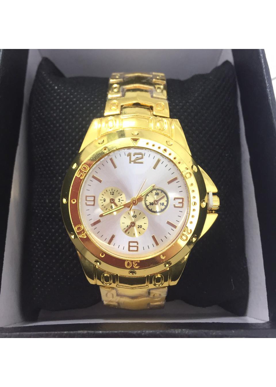Đồng hồ đôi nam nữ thời trang dây đeo vàng sang chảnh phong cách Âu Mỹ ZO55