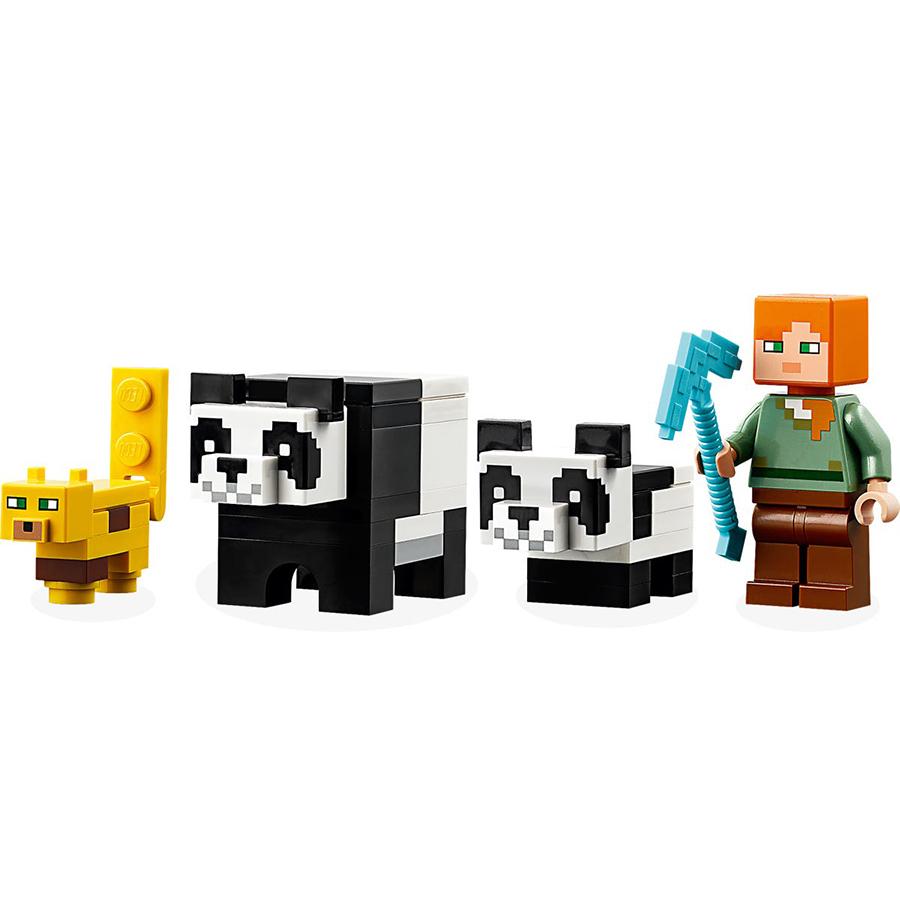 Đồ Chơi Lắp Ghép LEGO Minecraft Vườn Gấu Trúc 21158 (204 Chi Tiết)