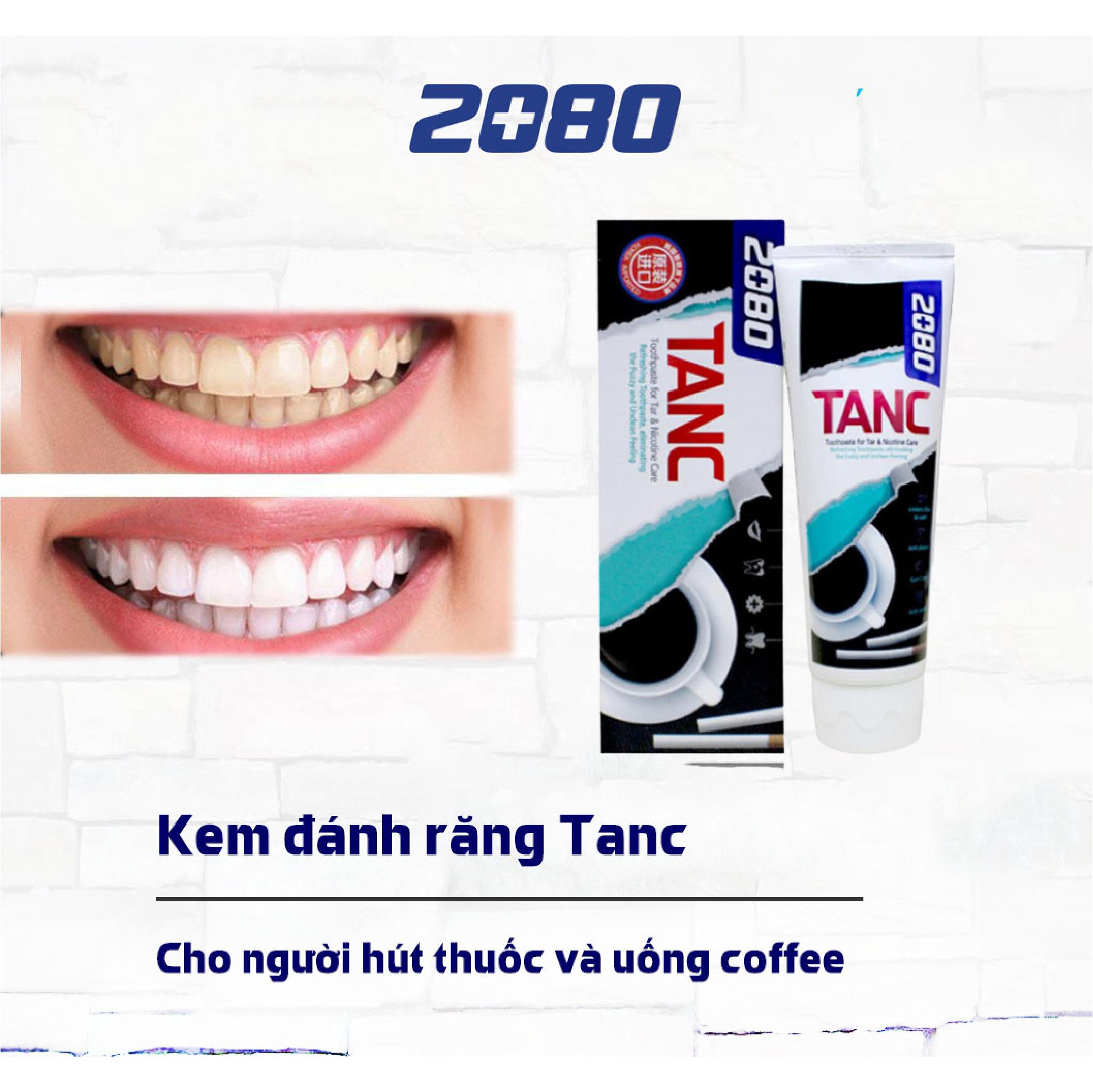Kem đánh răng khử mùi hôi, bảo vệ men răng và ngừa sâu răng 2080 TANC 100g - Hàn Quốc Chính Hãng