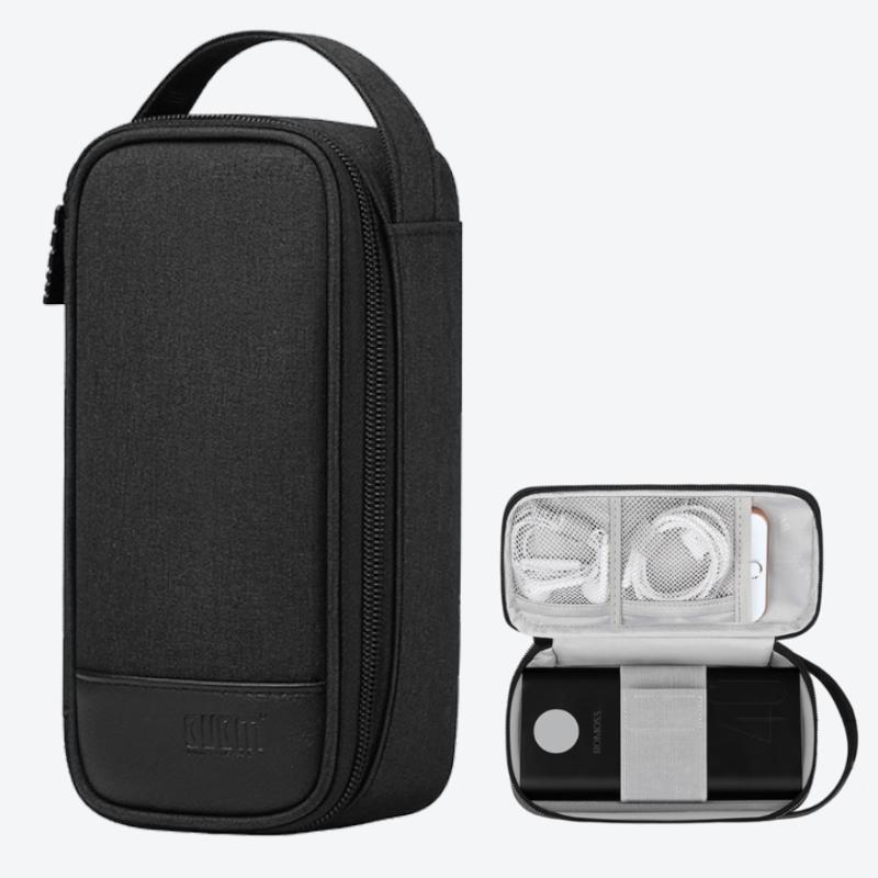 Túi phụ kiện công nghệ mẫu quai xách đứng chuyên dụng đựng bộ sạc macbook, dây cáp sạc, tai nghe, điện thoại và pin dự phòng