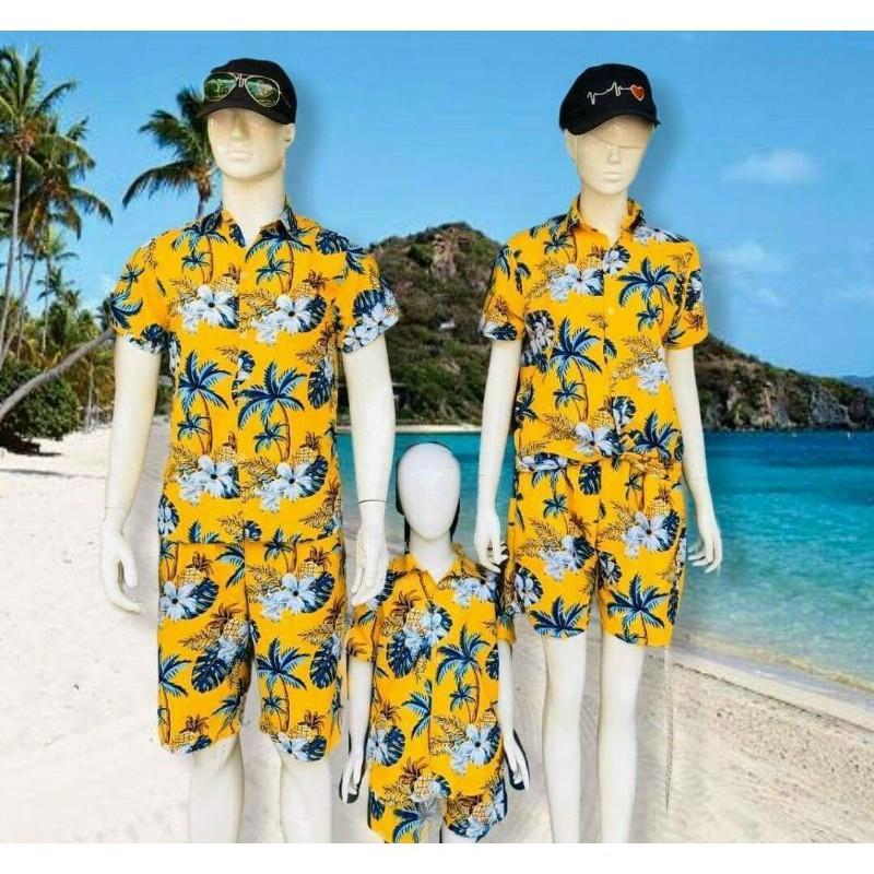 đồng phục đi biển trái cây gia đình, nhóm, công ty, quần áo TEAM đi biển đẹp
