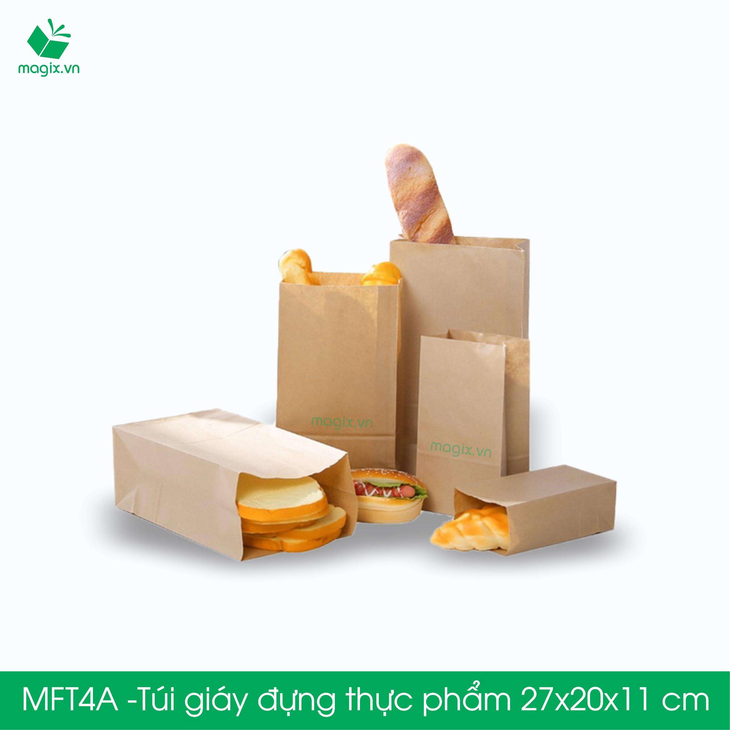 MFT4A - 27x20x11 cm - 500 Túi đựng thực phẩm - Túi đựng đồ ăn