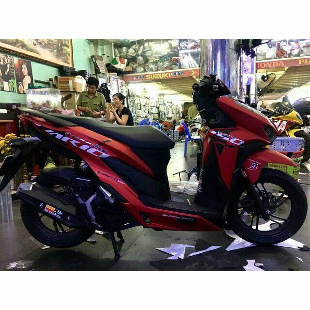 Tem rời dành cho xe máy Malay Vario đỏ nhám (bộ)