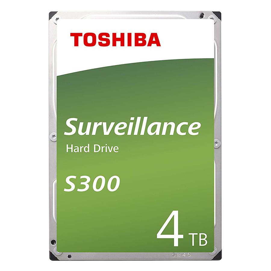 """Ổ Cứng HDD Toshiba S300 3.5"""" 4TB Surveillance 128MB Low-spin SATA3 HDWT140UZSVA - Hàng Chính Hãng"""