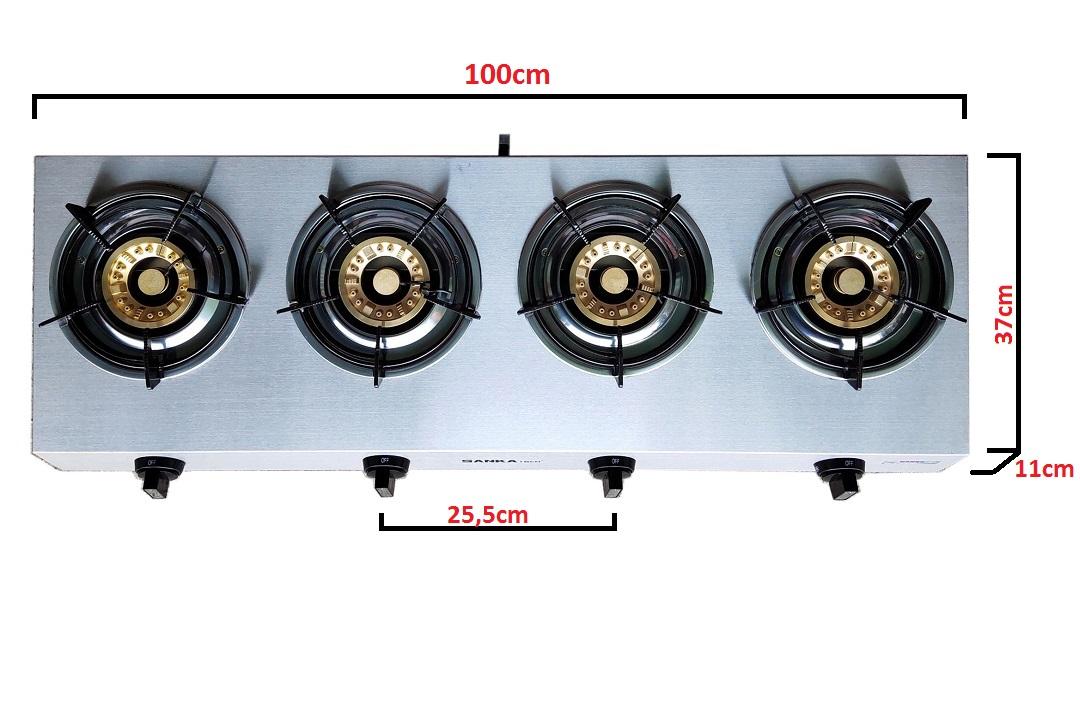 Bếp Gas 4 lò Điếu gang Sen đồng SANKA tech SKT5G - Bếp ga cao cấp Hàng chính hãng
