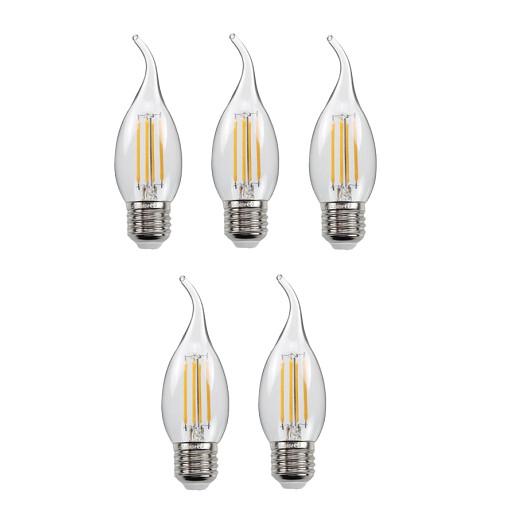 Bộ 5 bóng đèn Led Edison C35 4W hình nến đui E27