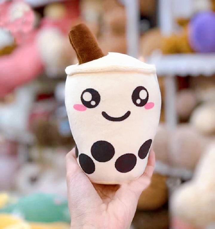 Gấu Bông Gối Ôm Trà Sữa Cute Vải Nhung Cao Cấp