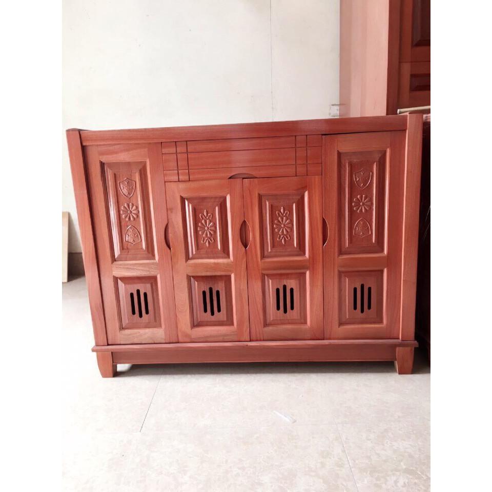 Tủ giày 4 cánh gỗ xoan đào