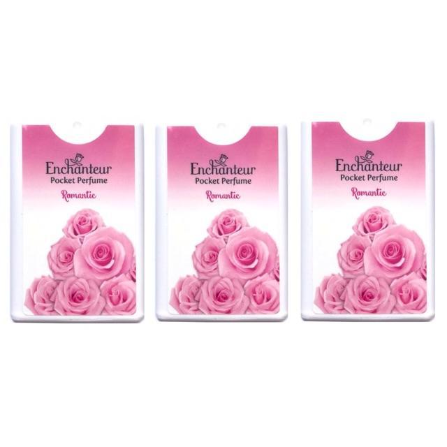 Combo 3 chai nước hoa bỏ túi Enchanteur Romantic 18ml *3