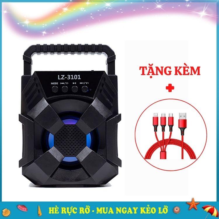 Loa bluetooth LZ-3101 Lanith - Loa Phát Không Dây Mini - Thiết Kế hầm Hồ Mạnh Mẽ , Khả Năng Khuếch Đại Âm Thanh Ấn Tượng - Kết Nối Bluetooth Nhanh Chóng, Ổn Định - Tặng Cáp Sạc 3 Đầu - Hàng Nhập Khẩu - LZ003101-CAP00001