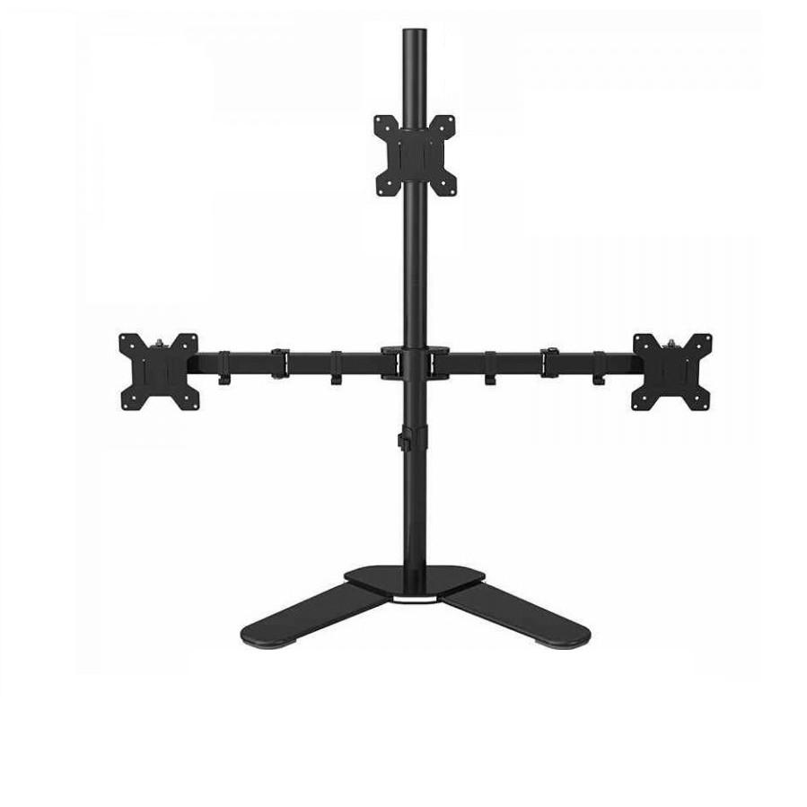 Chân để bàn 3 màn hình 13-27 inch 2 dưới 1 trên M043 - Hàng nhập khẩu