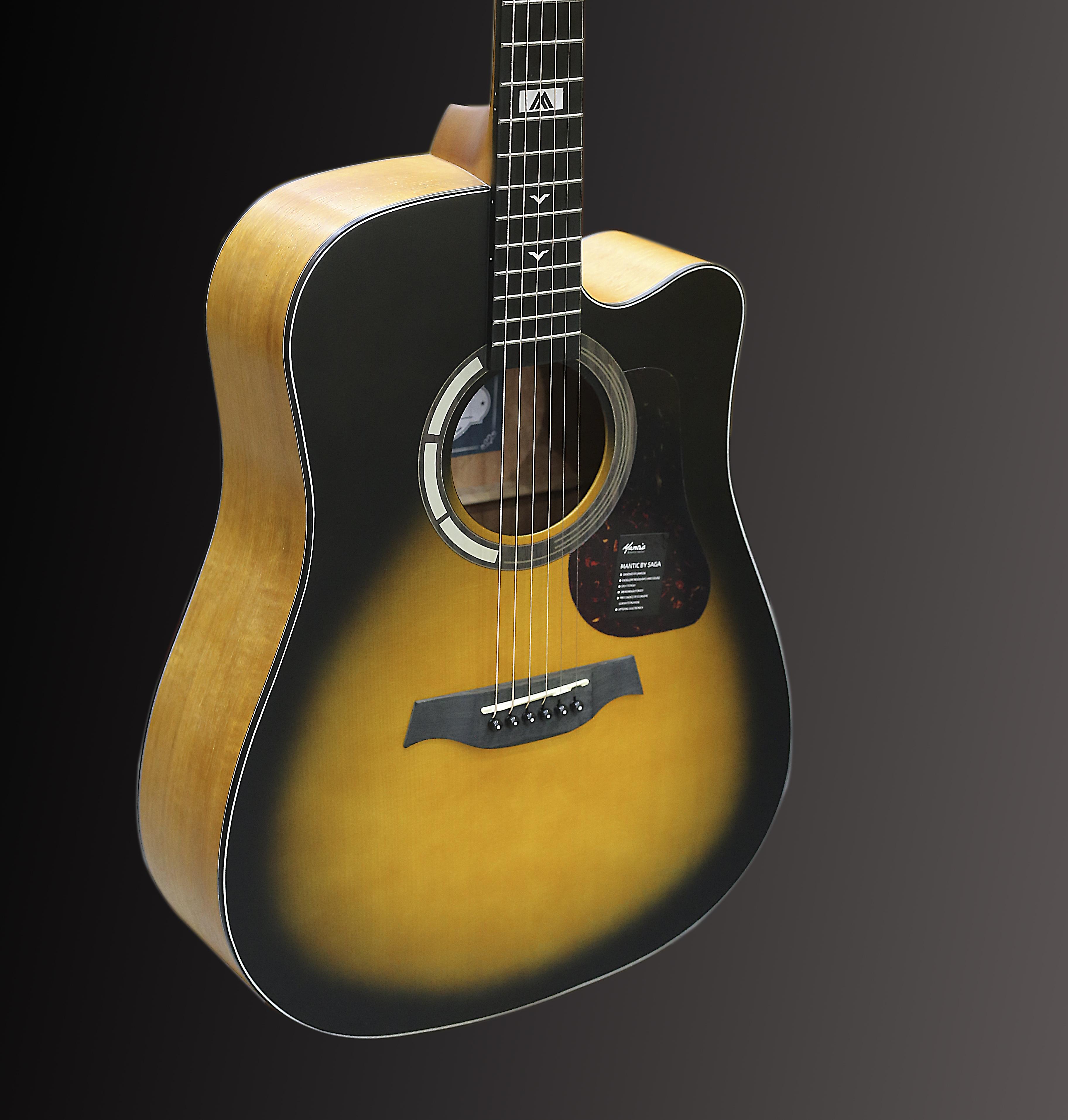 Đàn Guitar Acoustic GT-1DC Mầu Sunburst Chất Lượng Tốt