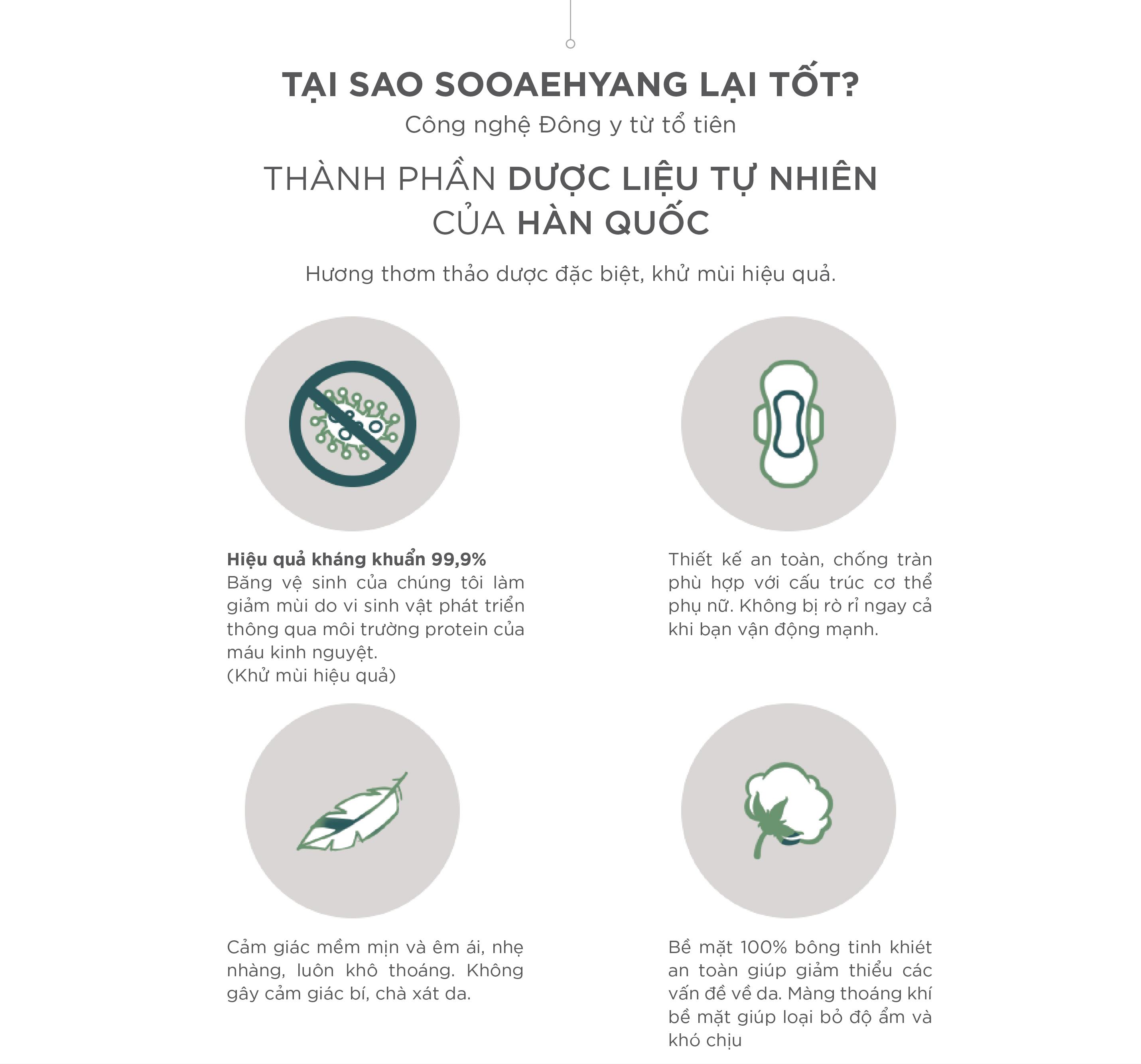COMBO 4 GÓI BĂNG VỆ SINH HỮU CƠ THẢO DƯỢC NEOSIS SOOAEHYANG BAN NGÀY của Hàn Quốc_Size M (KT: 24cm)_1 gói/12 miếng