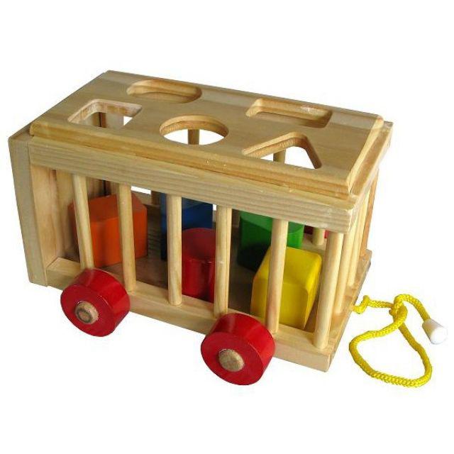 Đồ chơi gỗ - Xe Cũi Thả Hình