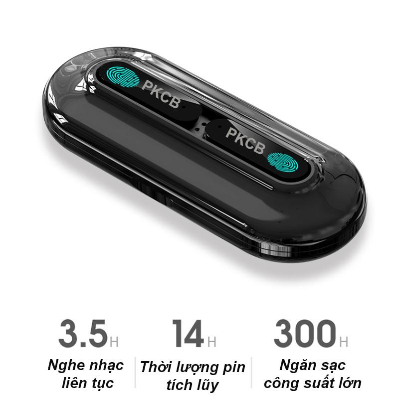 Tai Nghe Bluetooth Không Dây True Wireless New Điều Khiển Vân tay MH268 PKCB- Hàng Chính Hãng