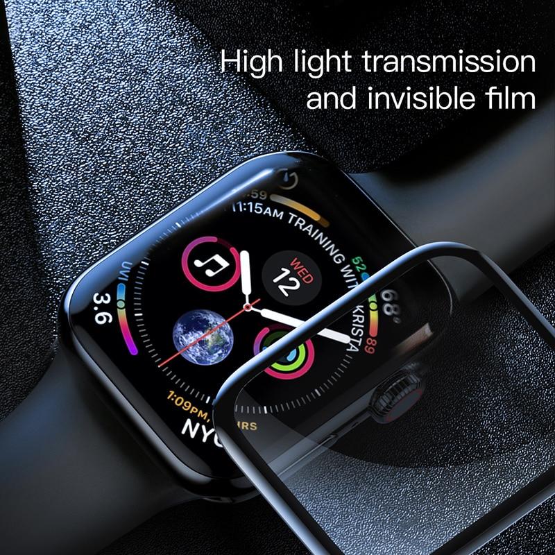 Miếng dán kính cường lực Full 3D BASEUS cho Apple Watch 42mm  - Hàng Chính Hãng