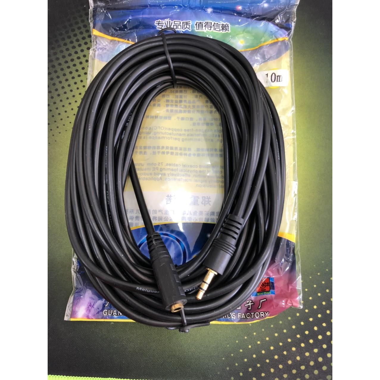 Dây nối dài loa-tai nghe màu đen dài 10 mét