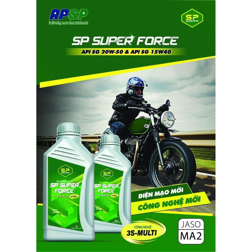 Dầu nhớt xe số - Saigonpetro - SP SUPER FORCE 4T SG 20W-50