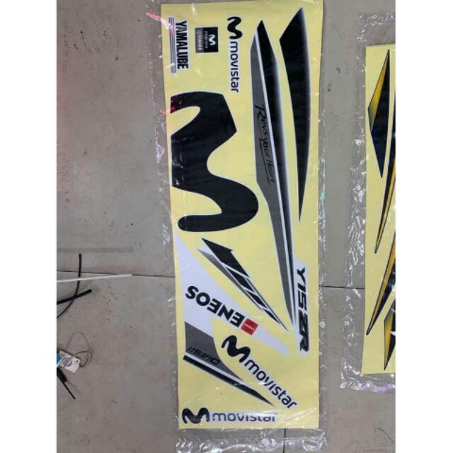 Tem UV ép nhiệt dành cho xe Ex 150 mẫu Movistar
