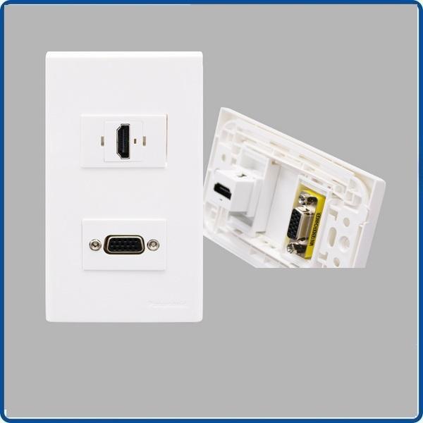 Bộ WallPlate 2 cổng âm tường HDMI - VGA