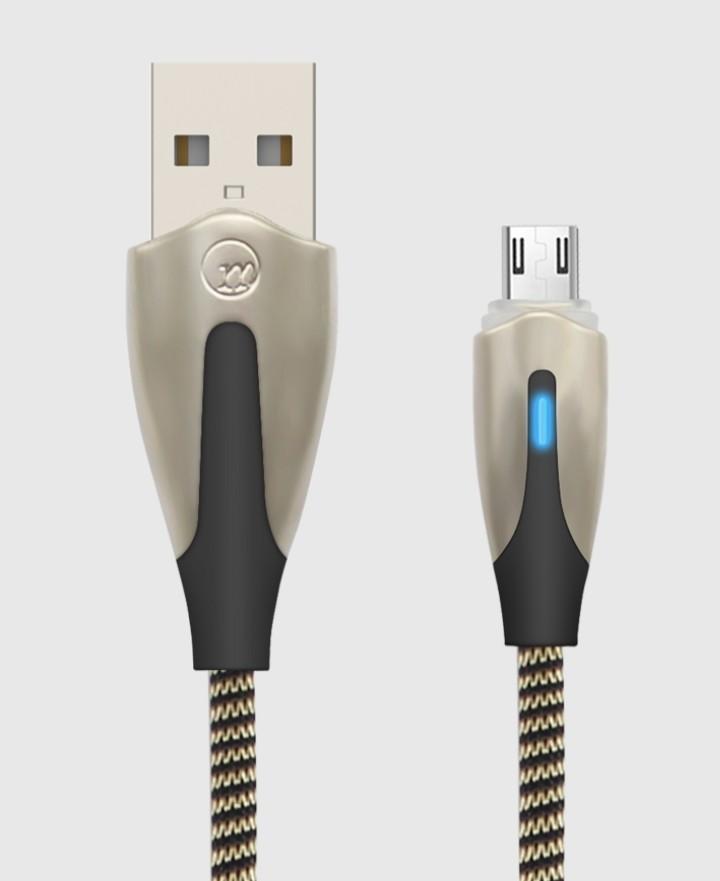 Cáp sạc Micro USB led tự ngắt, LED báo sạc dành cho Samsung, Huawei, Xiaomi, Oppo, Sony - Giao màu ngẫu nhiên