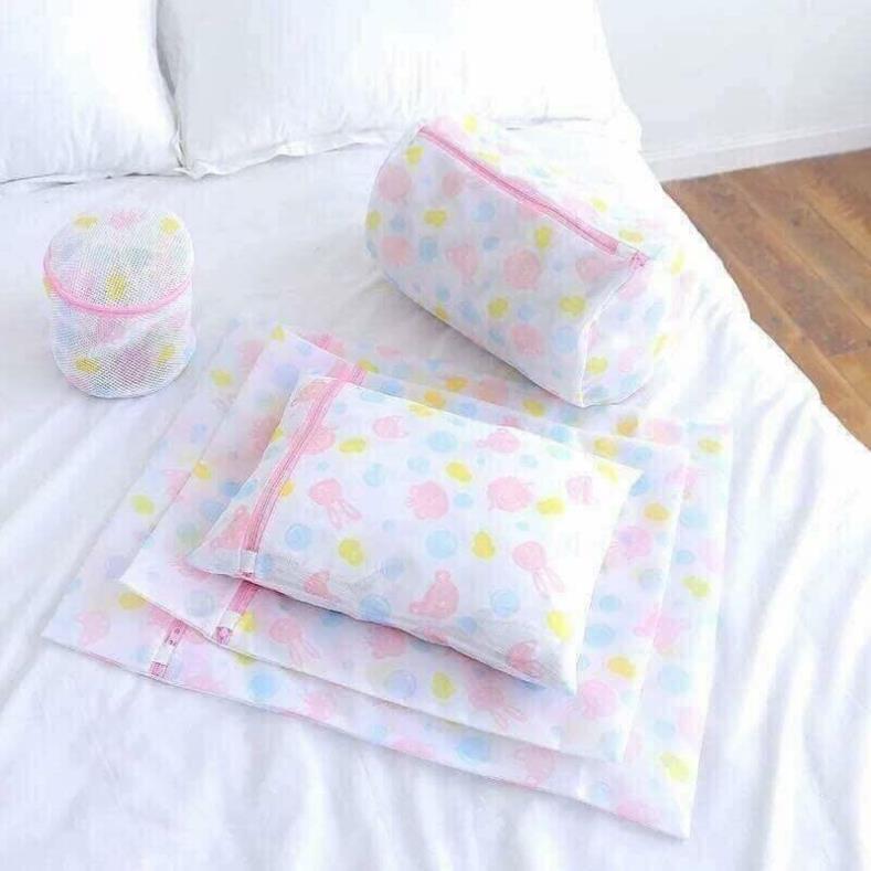 Set 5 Túi Giặt Hoa Đủ Cỡ