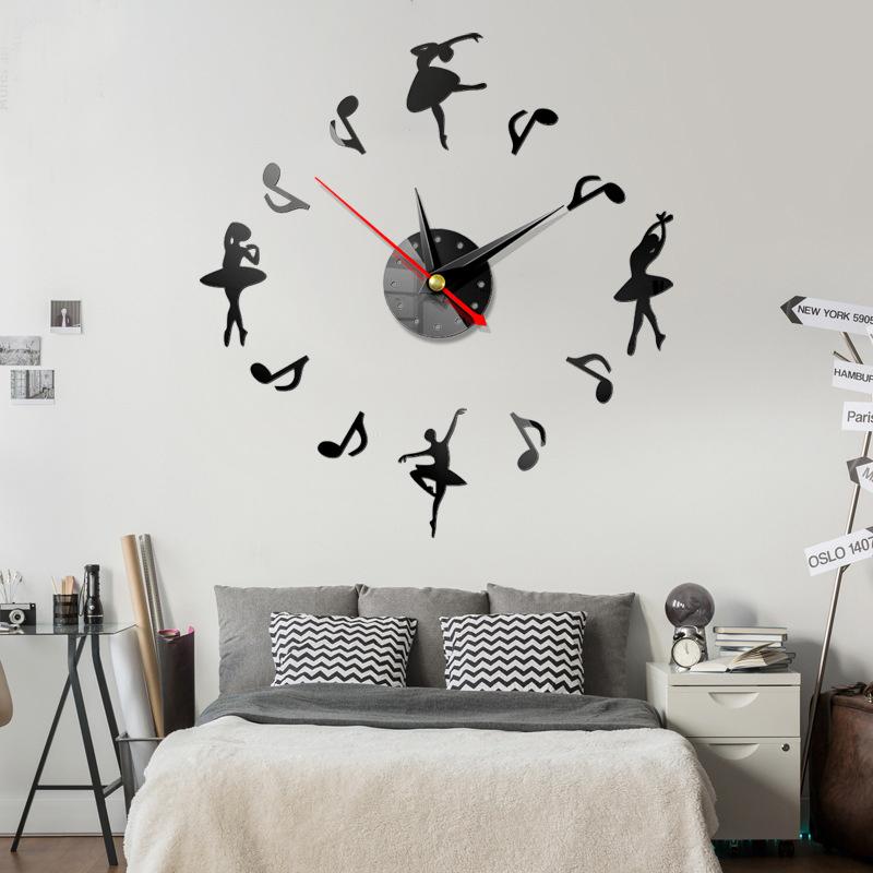 Đồng hồ treo tường 3D tự lắp ráp phong cách Châu Âu DH03 Ballet