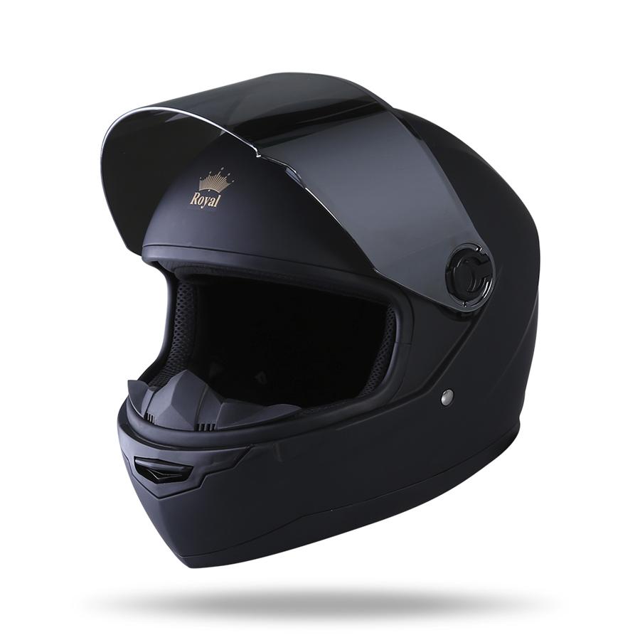 Mũ Bảo Hiểm FullFace Royal M136 (Đen Mờ)