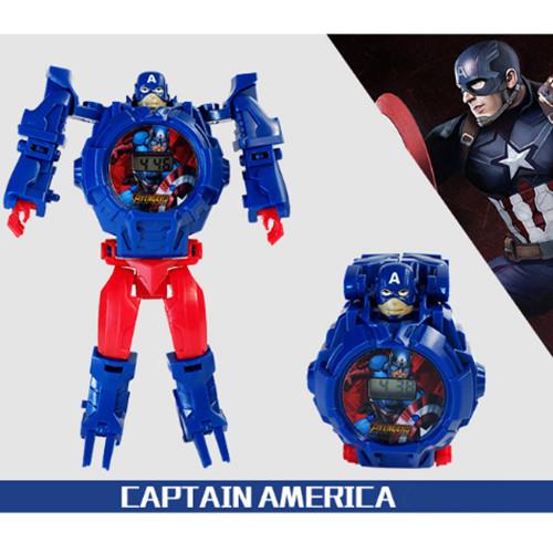 Đồng hồ biến hình robot siêu nhân đội trưởng mỹ CỰC HOT