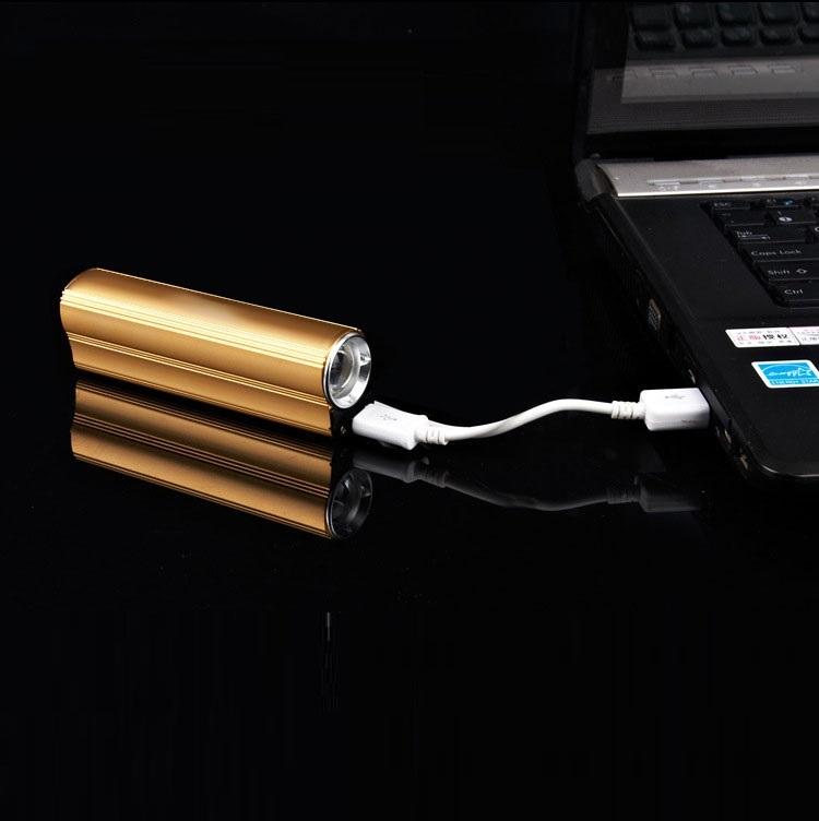 Đèn pin siêu sáng kiêm bật lửa, sạc dự phòng ( Tặng 03 nút kẹp cao su giữ dây điện )