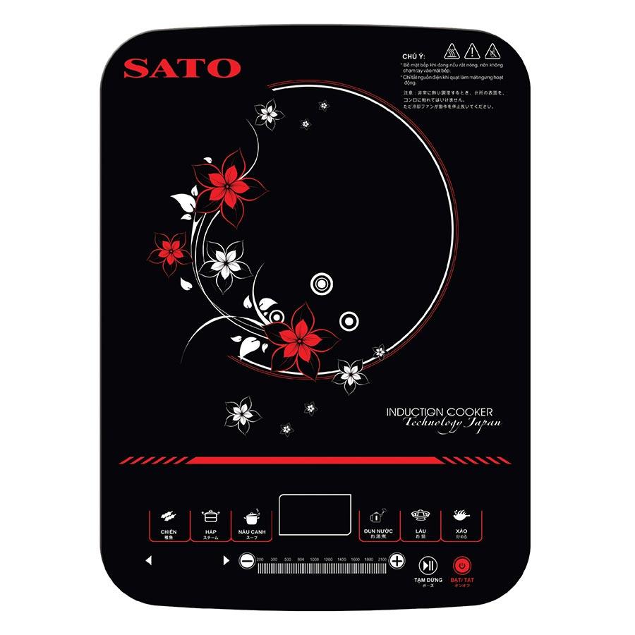 Bếp Điện Từ Đơn Sato STB-201 (Tặng Nồi Lẩu Inox) - Hàng chính hãng