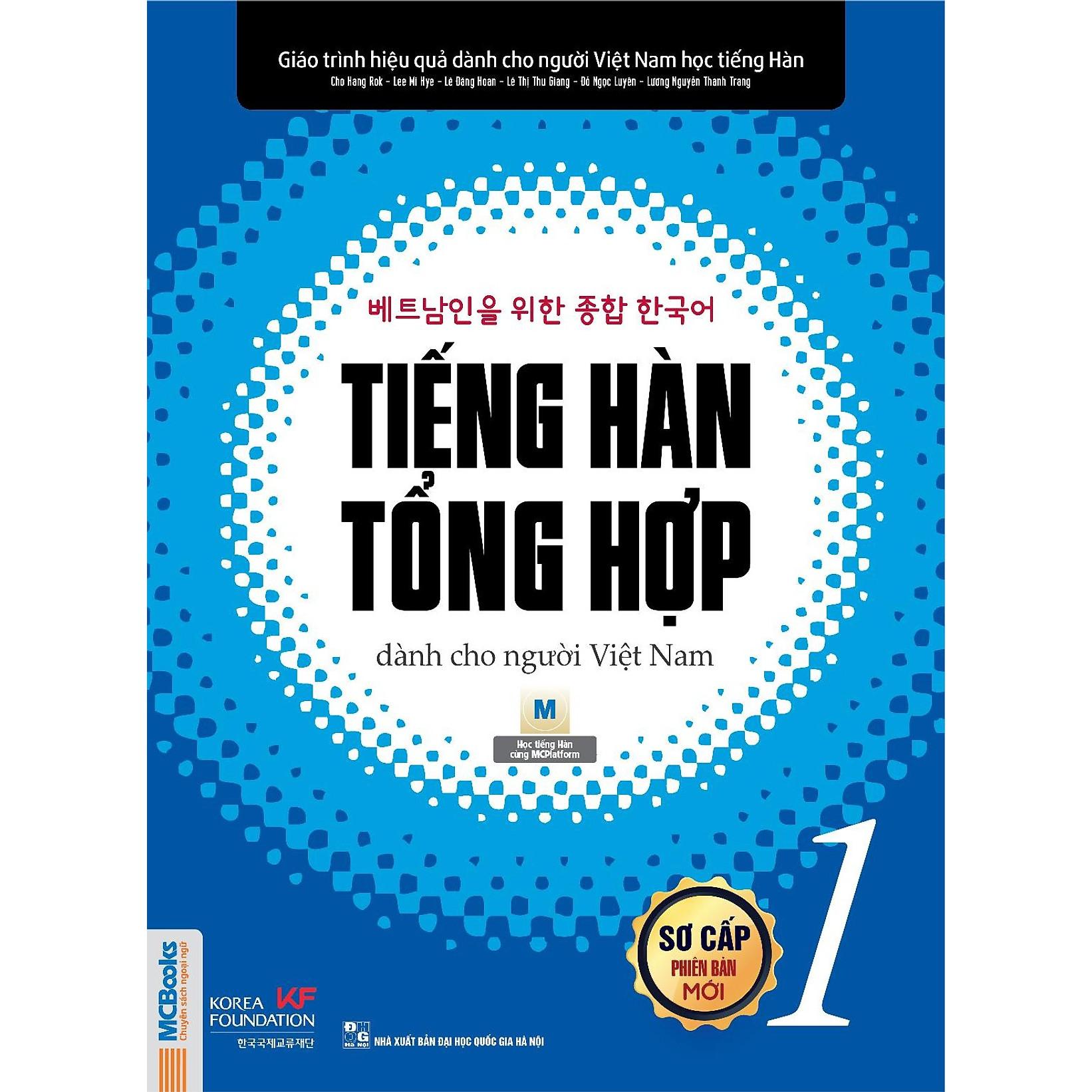 Tiếng Hàn Tổng Hợp Dành Cho Người Việt - Sơ Cấp 1 ( Bản Thường ) tặng kèm bút Galaxy