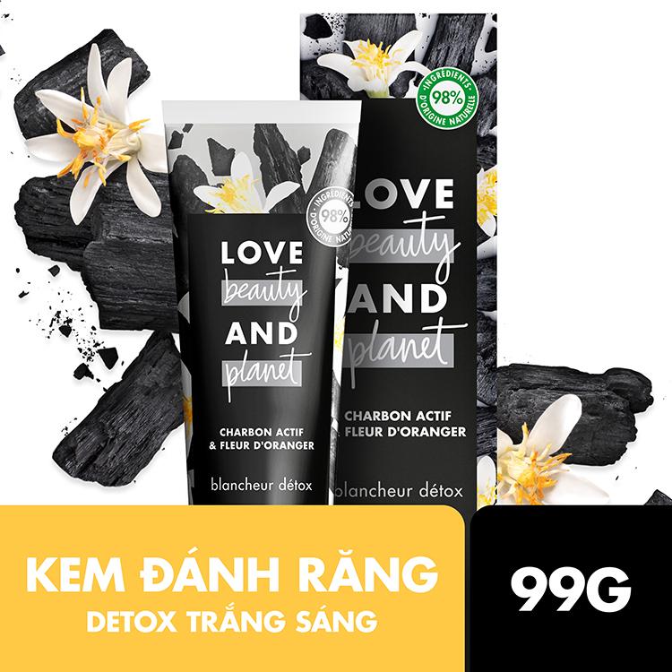 Combo 3 Kem Đánh Răng Love Beauty And Planet Detox Trắng Sáng 99Gx3