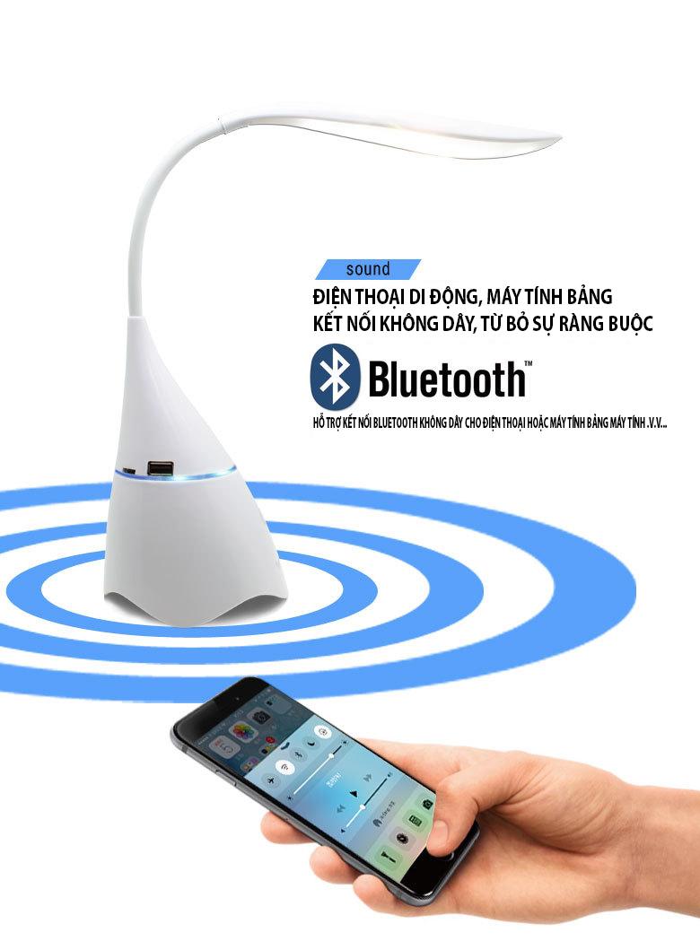 Loa bluetooth T11 kèm đèn để bàn - Hàng chính hãng