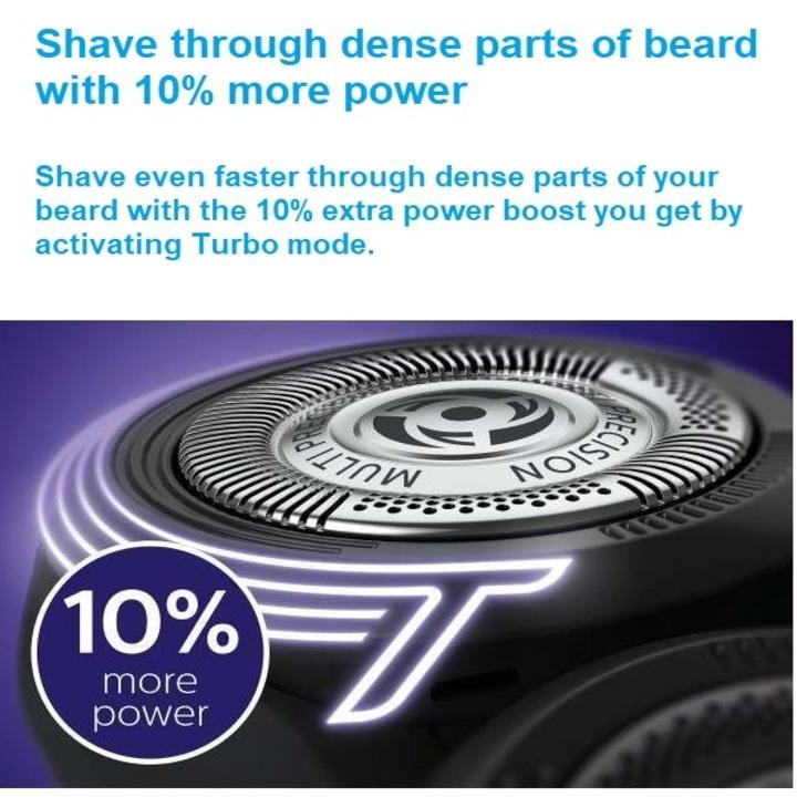 Máy cạo râu khô và ướt cao cấp Philips S5390/12 có đầu tỉa tóc mai và ria mép - Hàng nhập khẩu