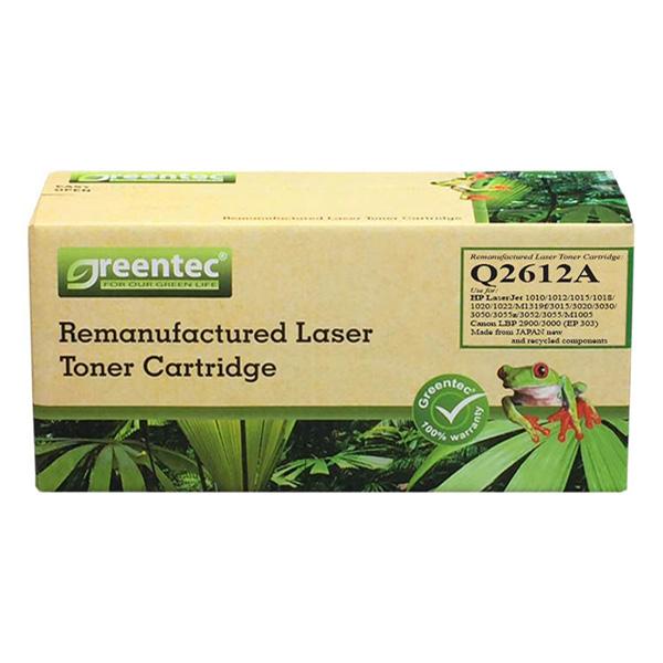 Mực In Laser Đen Trắng Greentec 12A (Q2612A) (303) - Hàng Chính Hãng