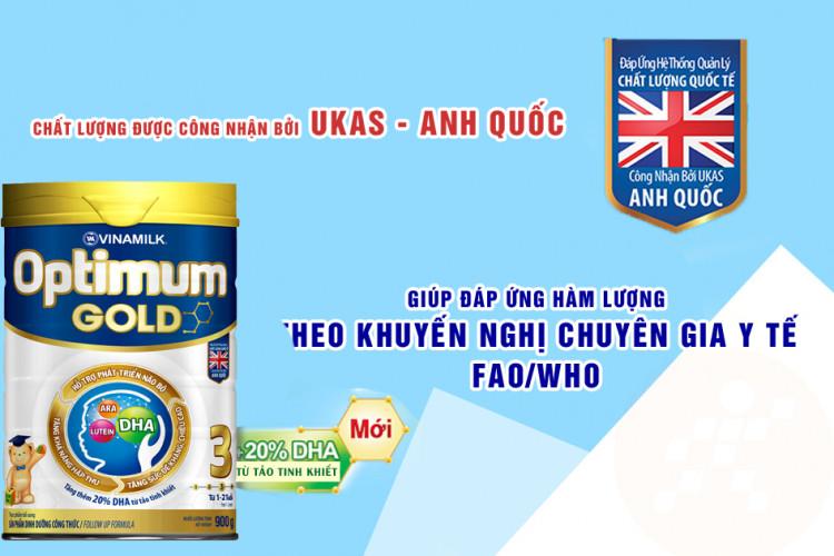Sữa bột Optimum Gold 3 900g (cho bé 1-2 tuổi)
